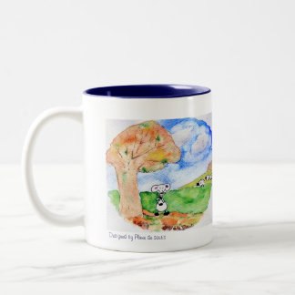 Melancholy of Sobs in autumn Two-Tone Coffee Mug