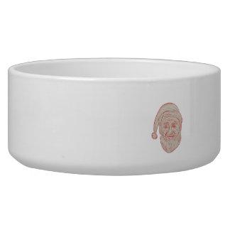 Melancholy Santa Claus Head Drawing Bowl