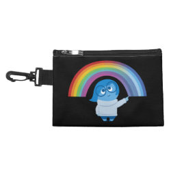 Clip On Accessory Bag with Inside Out's Sadness with Rainbow design