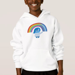 Girls' American Apparel Fine Jersey T-Shirt with Inside Out's Sadness with Rainbow design