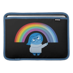 Macbook Air Sleeve with Inside Out's Sadness with Rainbow design