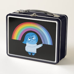 Metal Lunch Box with Inside Out's Sadness with Rainbow design