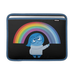 Inside Out's Sadness with Rainbow Macbook Air Sleeve