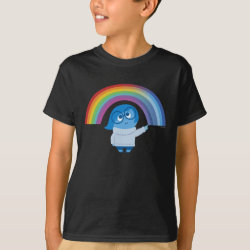 Kids' Hanes TAGLESS® T-Shirt with Inside Out's Sadness with Rainbow design