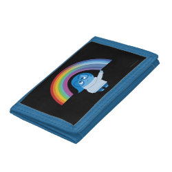 Inside Out's Sadness with Rainbow TriFold Nylon Wallet