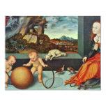 Melancolía por Cranach D. Ä. Lucas (la mejor Invitación 10,8 X 13,9 Cm