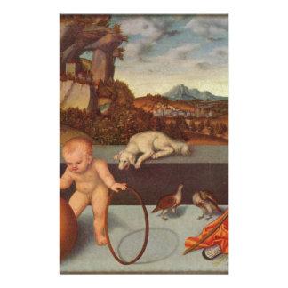 Melancolía por Lucas Cranach la anciano Papelería Personalizada