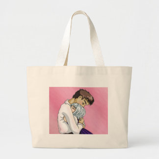 Melancolía rosada bolsa tela grande