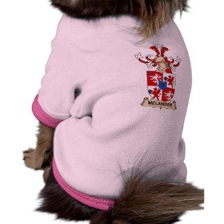 Melander Family Crest Doggie T Shirt