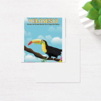 Melanesia Toucan travel poster Square Business Card