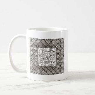 Melange-Abstract Geometric Doodle Coffee Mug