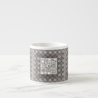 Melange-Abstract Geometric Doodle Espresso Cup