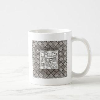 Melange-Abstract Geometric Doodle Pattern Coffee Mug