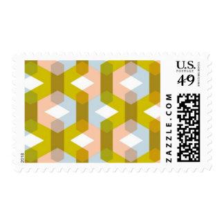 Mélange - Graphic Blend, Pink, Citrine, Light Blue Postage