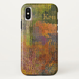 MELANGE OF COLOR/ DIGITAL EFFECTS /CUSTOMIZABLE iPhone X CASE