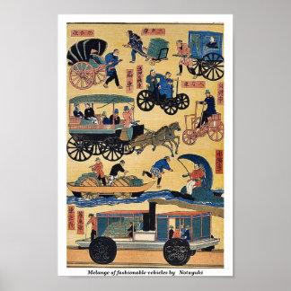 Melange of fashionable vehicles by   Notayuki Poster