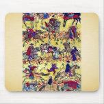 Melange of horse riders by Higuchi Ginjiro Ukiyo Mouse Pad