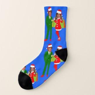 melania santa trump socks