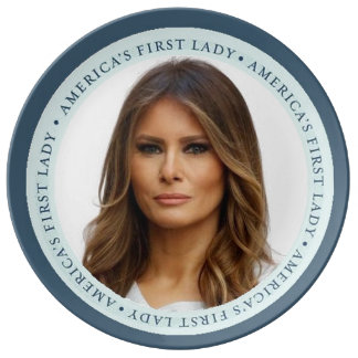 Melania TRUMP First Lady Plate