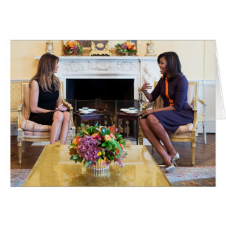 Melania Trump with Michelle Obama Card