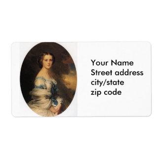 melanie de bussiere comtesse edmond de pourtales personalized shipping label
