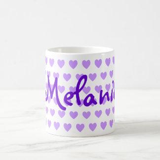 Melanie en púrpura tazas