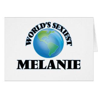 Melanie más atractiva del mundo tarjeta pequeña