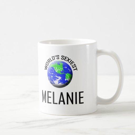 Melanie más atractiva del mundo tazas de café