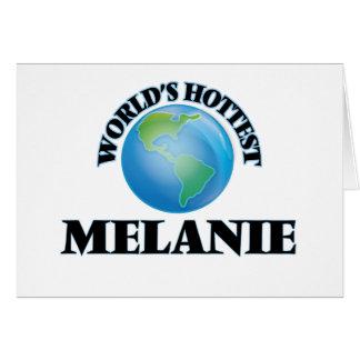 Melanie más caliente del mundo tarjeta pequeña