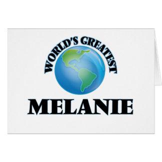 Melanie más grande del mundo tarjeta pequeña