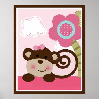 Melanie Monkey Girl Wall Poster One of Three
