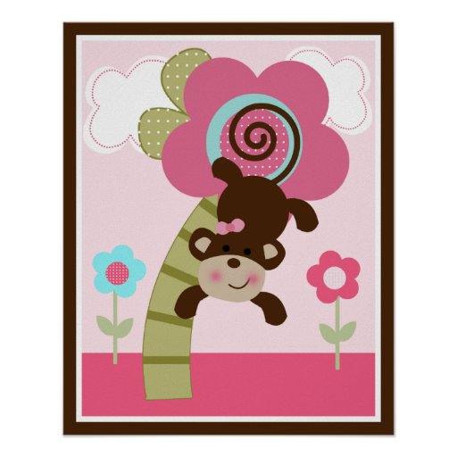 Melanie Monkey Girl Wall Poster One of Three