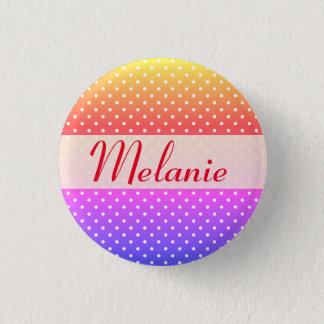 Melanie name plate Anstecker Pinback Button