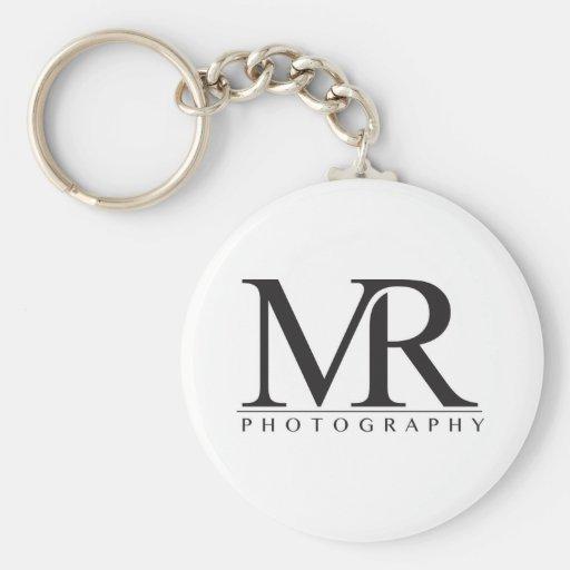 Melanie Ramiro Photography (block logo) Key Chain
