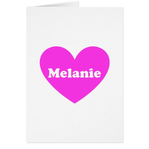 Melanie Tarjeta De Felicitación