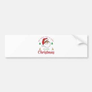 Melanin Christmas afrocentric Santa Bumper Sticker