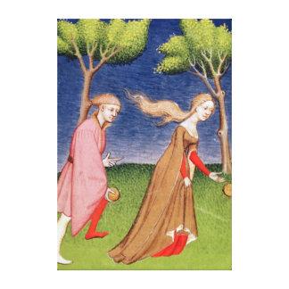 Melanion races against Atalanta Stretched Canvas Prints