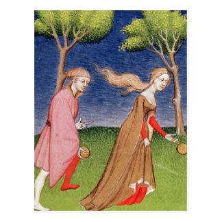 Melanion races against Atalanta Postcard