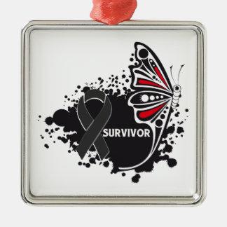 Melanoma abstracto de la mariposa del supervivient adorno de reyes