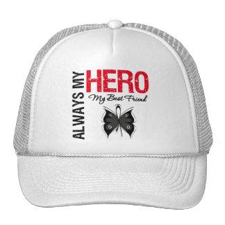 Melanoma Always My Hero My Best Friend Mesh Hat