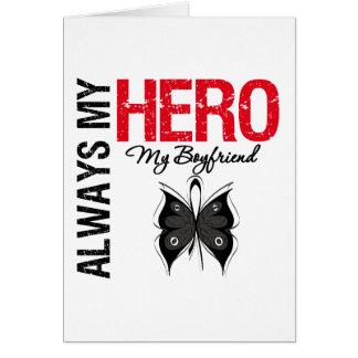 Melanoma Always My Hero My Boyfriend Card