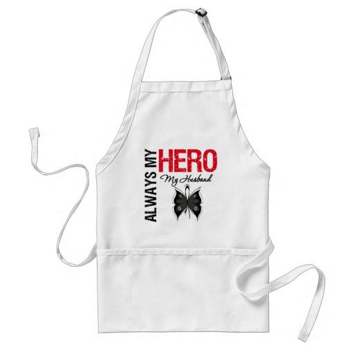 Melanoma Always My Hero My Husband Apron