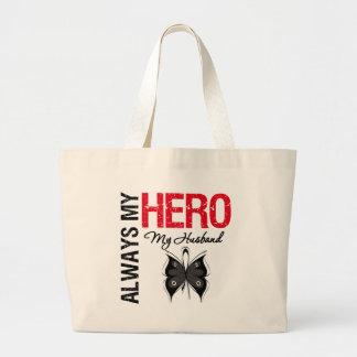 Melanoma Always My Hero My Husband Bags