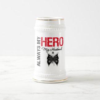 Melanoma Always My Hero My Husband Mug