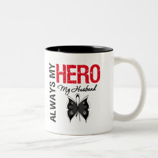 Melanoma Always My Hero My Husband Coffee Mugs