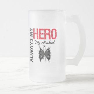 Melanoma Always My Hero My Husband Coffee Mug