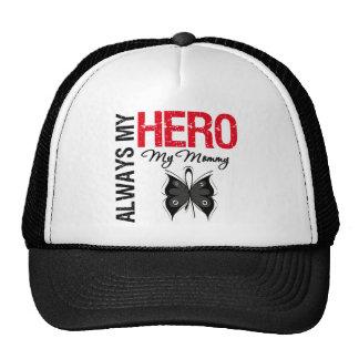 Melanoma Always My Hero My Mommy Hat