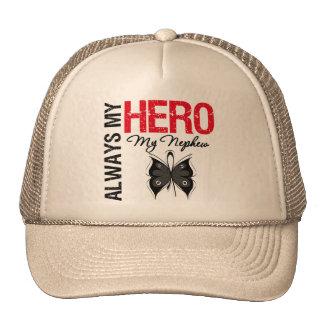 Melanoma Always My Hero My Nephew Mesh Hat