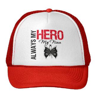 Melanoma Always My Hero My Niece Mesh Hats