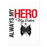 Melanoma Always My Hero My Sister Postcard